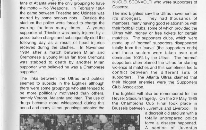 A History of the Italian Ultras, Part 2 of 4