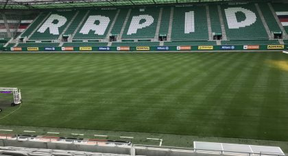 FF Vienna Road Trip –  Rapid Stadium, Dressing Rooms and onto the Pitch!