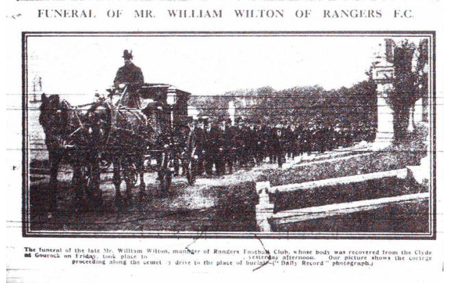 99th anniversary of William Wilton's death
