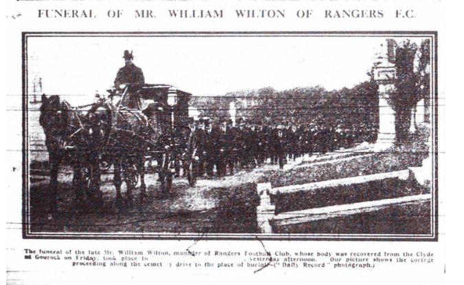 99th anniversary of William Wilton's death