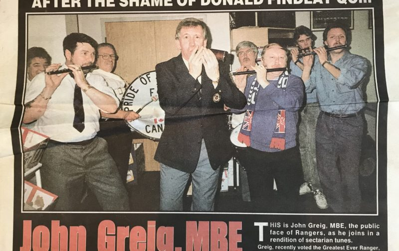20 years ago today the Sunday Mail tried to smear and destroy John Greig